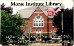 Morse Institute library card