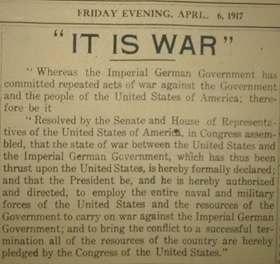 Wake Up America! Natick in the First World War