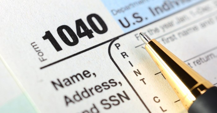 Federal 1040 and other tax forms at the library