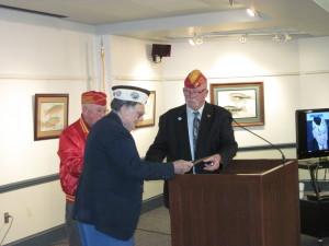 Ed Jolley, president of the Natick Veterans Council (since deceased); Gerald Halterman,  Pearl Harbor survivor; Paul Carew,  Natick Veterans Services officer.