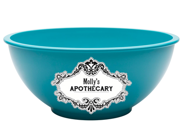 Mixing bowl that's labelled Molly's Apothecary